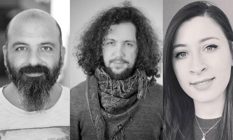 المخرجون لمى الشهابي، ابراهيم مهنا، وائل قدلو (تعديل عنب بلدي)