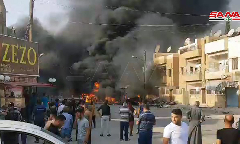 انفجار في مدينة القامشلي في محافظة الحسكة- 11 من تشرين الأول 2019 (سانا)