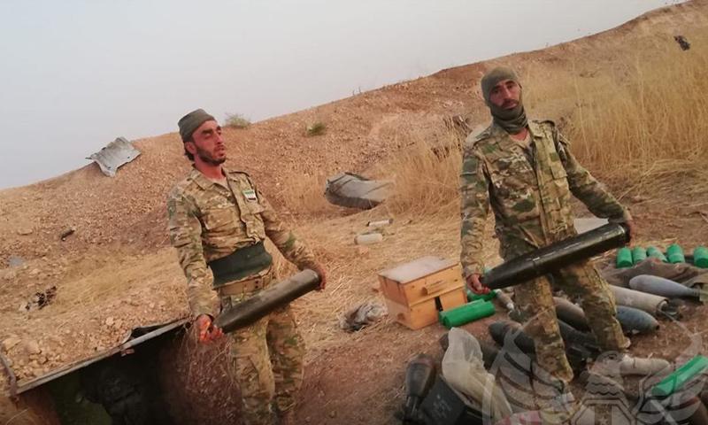 عناصر من الجيش الوطني يسيطرون على ذخائر في محيط رأس العين - (الجيش الوطني)