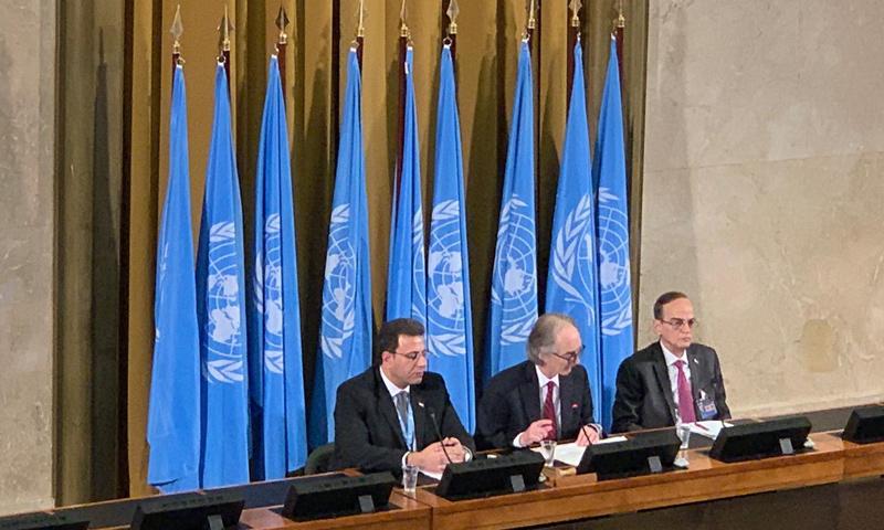 الجلسة الافتتاحية الرسمية للجنة الدستورية السورية في جنيف - 30 تشرين الأول 2019 (الائتلاف الوطني السوري)