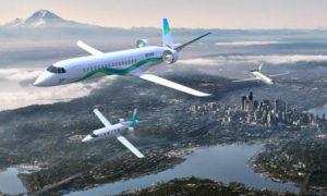 طائرة تعمل على الطاقة الكهربائية، لشركة زونزم إيرو( BBC)
