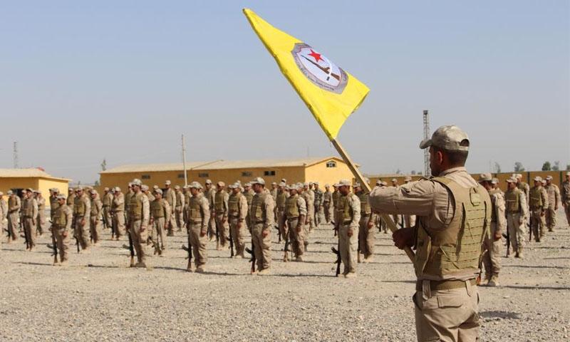 """أحد معسكرات وحدات """"حماية الشعب الكردية"""" (هاوار)"""