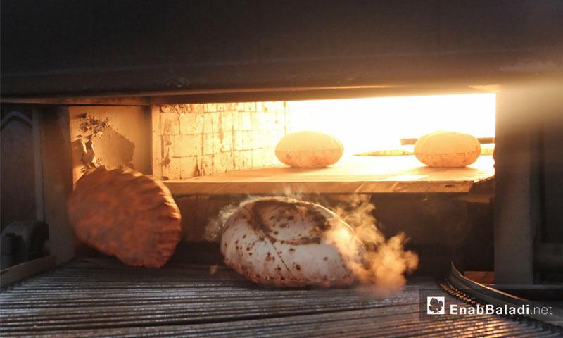 المخبز الآلي في أخترين شمالي حلب -3 نيسان 2017- (خاص عنب بلدي)