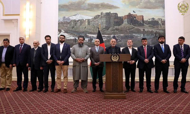 الرئيس الأفغاني أشرف غني يتحدث عن صفقة المبادلة في كابول -12 تشرين الثاني2019 - (رويترز)
