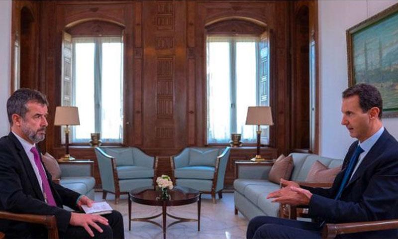 رئيس النظام السوري بشار الأسد في لقاء مع صحيفة فرنسية - 28 تشرين الثاني 2019 (Paris Match)