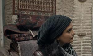 الممثلة السورية جفرا يونس في مشهد من الفيلم (الإعلان الرسمي للفيلم على يوتيوب)