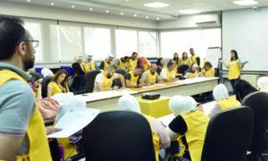 """من اجتماعات شركة """"MTN"""" في دمشق (صفحة الشركة في فيس بوك)"""