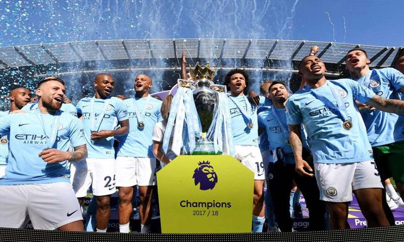 احتفال مانشستر سيتي بتحقيق الدوري اللإنجليزي الممتاز، (Getty İmages)