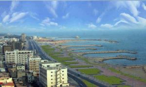 ساحل البحر المتوسط في مدينة طرطوس السورية