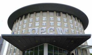 مقر منظمة حظر الأسلحة الكيماوية في لاهاي في هولندا - 5 أيار 2017 (AP)