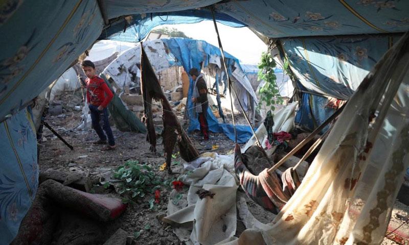 مخيم قاح على الحدود السورية التركية - 20 تشرين الثاني 2019 (AFP)