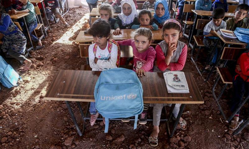 الأطفال السوريون في مخيمات أطمة - تشرين الثاني 2019 (UNICEF)