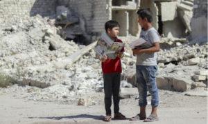 تعليم الأطفال عن مخاطر مخلفات الحرب في حلب - تشرين الأول 2019 (UNICEF)