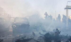 تفجير سيارة مفخخة في الباب بريف حلب الشرقي - 16 تشرين الثاني 2019 (الدفاع المدني)