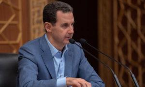 رئيس النظام السوري، بشار الأسد، في ندوة حوارية مع شباب سوريين (رئاسة الجمهورية)
