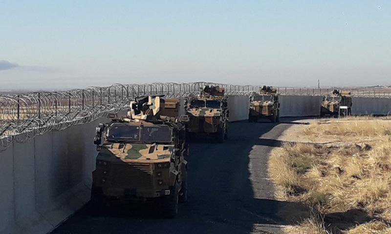دورية تركية على الحدود السورية-التركية (وزارة الدفاع التركية)