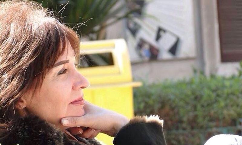 الممثلة والكاتبة السورية دلع الرحبي 2014 (صفحة دلع الرحبي على فيس بوك)