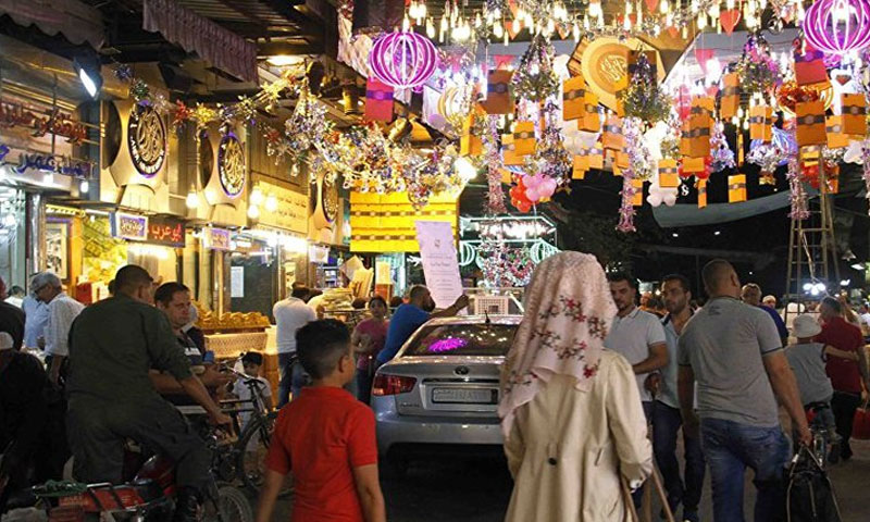 سوق تجاري في سوريا