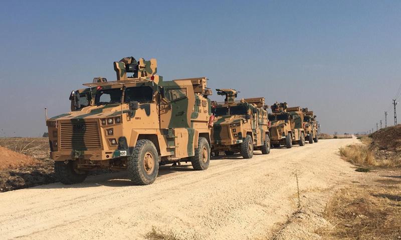 دورية تركية على الحدود السورية-التركية- 1 من تشرين الثاني 2019 (وزارة الدفاع التركية)