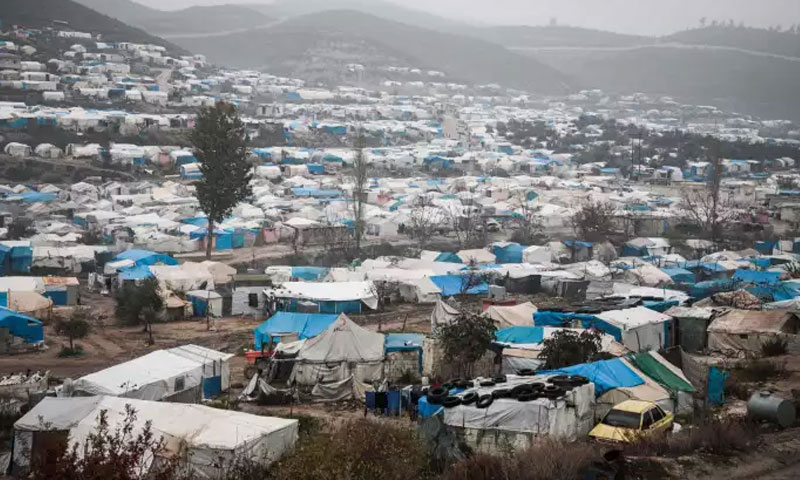 مخيم للنازحين في إدلب شمالي سوريا-12 من كانون الأول 2019، (AFP).
