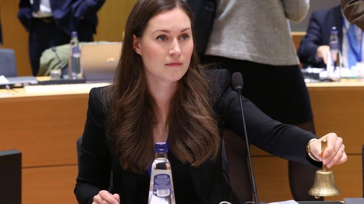 وزيرة النقل والاتصالات الفنلندية سانا مارين في اجتماع مجلس النقل والاتصالات والطاقة في المجلس الأوروبي في بروكسل، 2 من أيلول 2019 (وكالة الأناضول)