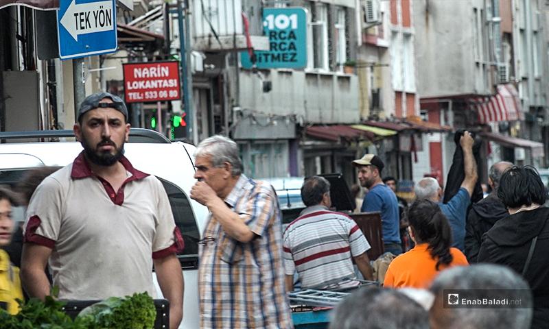 حي كاراجومروك في منطقة الفاتح في مدينة اسطنبول في تركيا - تشرين الثاني 2019 (عنب بلدي)