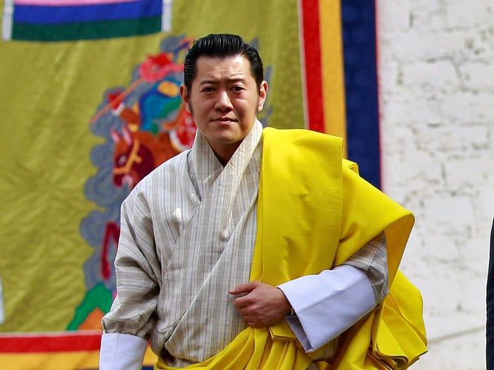 جيغمي خيسار نامجيل وانجتشوك، ملك بوتان (رويترز)
