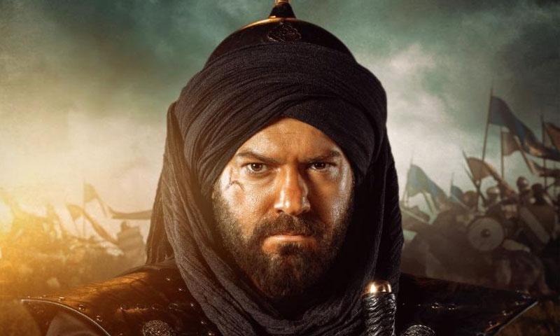 الممثل المصري عمرو يوسف في شخصية خالد بن الوليد (كيندا علوش في تويتر)