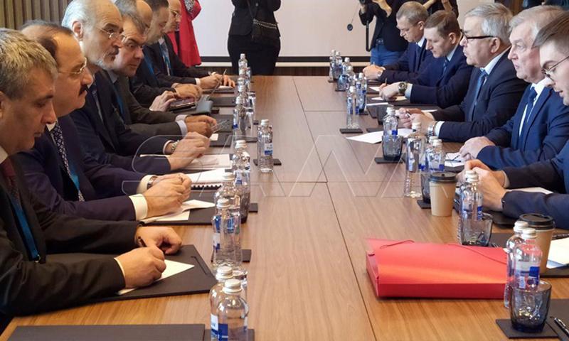 """اجتماع بين وفدي النظام السوري وروسيا في محادثات """"أستانة 14""""- (سانا)"""