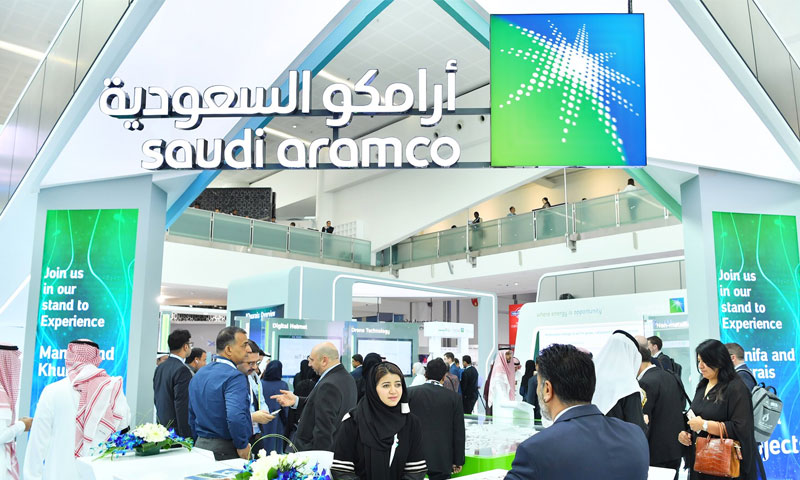 معرض أرامكو السعودية في مؤتمر أديبك في العاصمة الإماراتية أبو ظبي- 14 تشرين الثاني 2019 (حساب الشركة في تويتر)