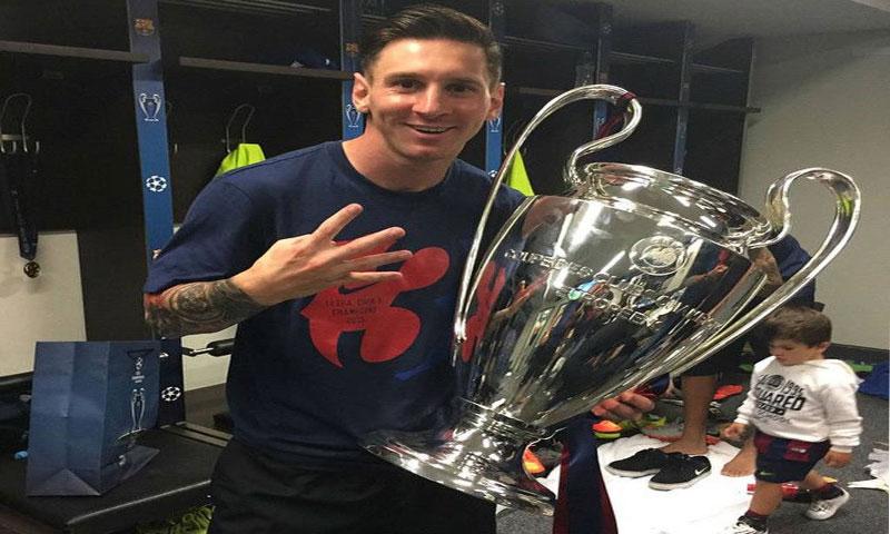 ميسي وكأس دوري أبطال أوروبا الرابع في تاريخه، 2014/2015 (divulgação)