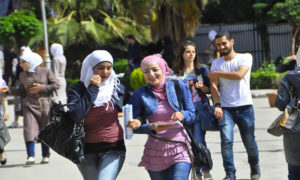 كلية الآداب في جامعة دمشق - 29 نيسان 2015 (سانا)