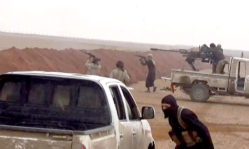 تقرير مصور للاشتباكات بين مقاتلي تنظيم الدولة وقسد في الباغوز شرق الفرات - 16 آذار 2019 (ناشر نيوز)