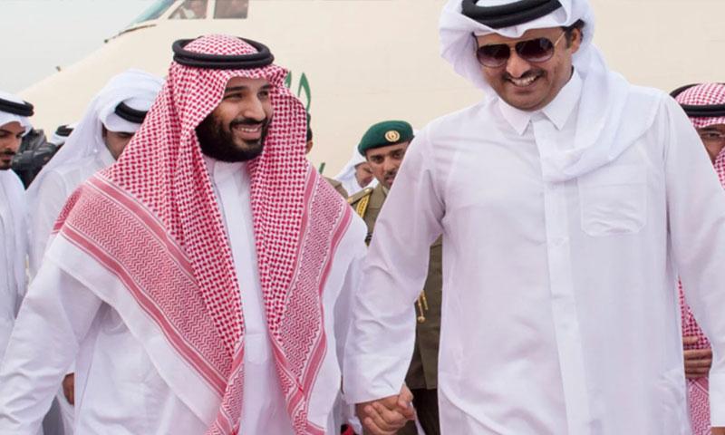 أمير قطر تميم بن حمد وولي العهد السعودي محمد بن سلمان 2016 (العالم)