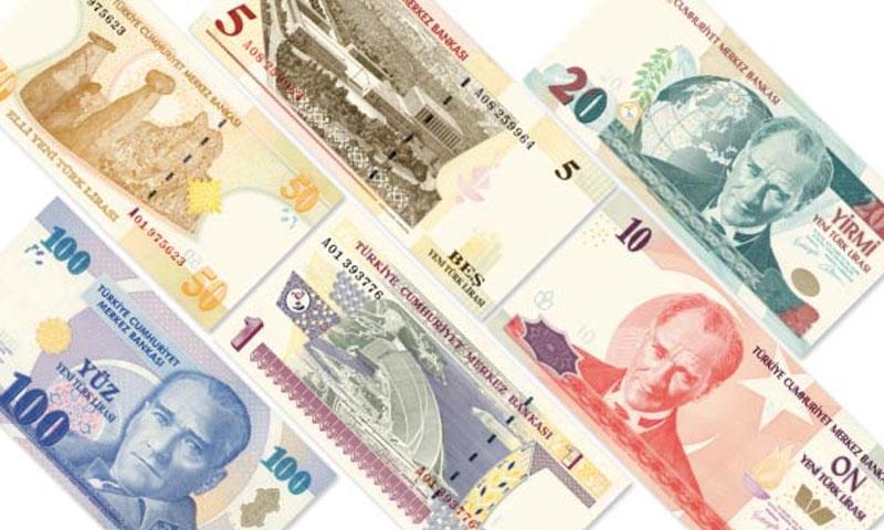 الليرة التركية التي سيتم تداولها في 2020،، 9 من كانون الثاني، (البنك المركزي التركي)