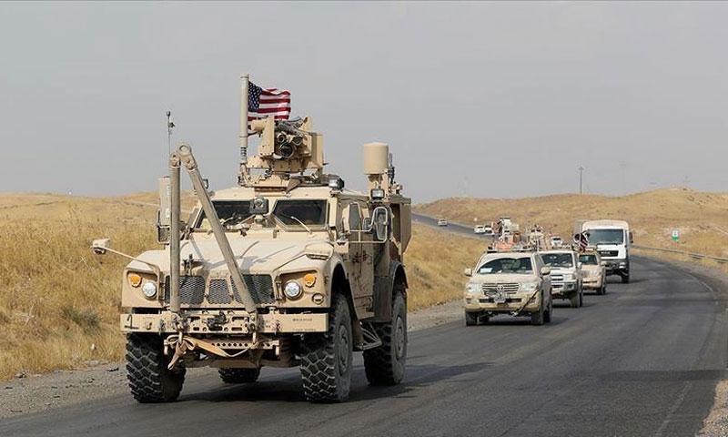 التعزيزات الأمريكية الواصلة إلى الحسكة-15 من كانون الأول (الأناضول)