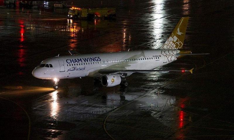 طائرة تابعة لشركة أجنحة الشام (صفحة الشركة على فيس بوك)