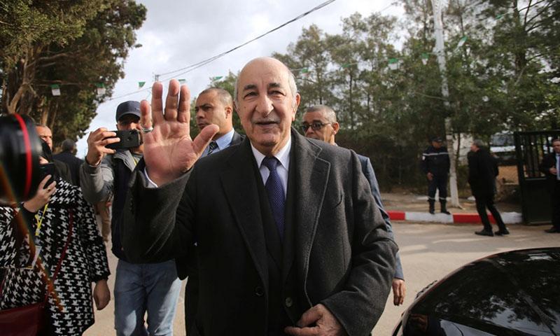 عبد المجيد تبون خلال الانتخابات الجزائرية -12 كانون الأول 2019 (رويترز)