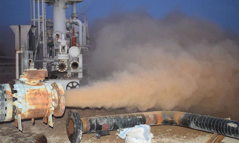 عملية توصيل خطوط بئري شريفة2 وشريفة 104 (وزارة النفط والروة المعدنية)