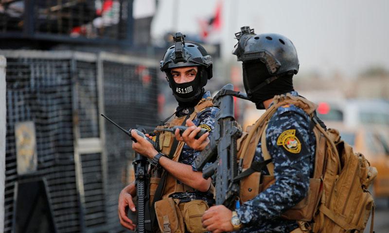 عناصر من الأمن العراقي في أحد الشوارع العراقية -8 من آب 2019 (رويترز)