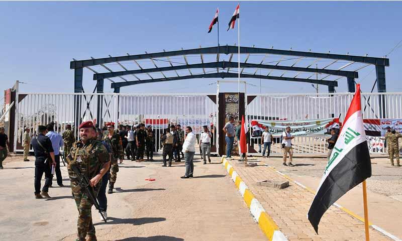 قوات الأمن السورية عند معبر البوكمال القائم الحدودي مع العراق - 30 أيلول 2019 (AFP)
