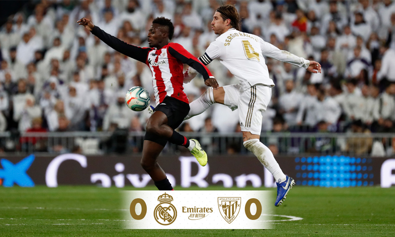ريال مدريد يتعادل مع أتلتيك بلباو بالدوري الإسباني (ريال مدريد تويتر)