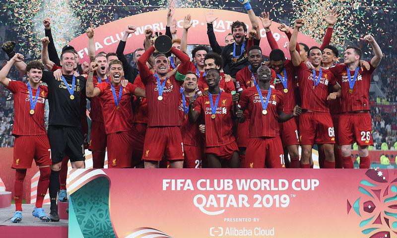 تتويج فريق ليفربول بكأس العالم للأندية للمرة الأولى في تاريخه 21 كانون الأول 2019 (صفحة النادي في فيس بوك)