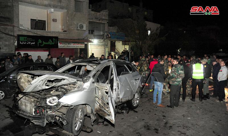 انفجار سيارة في نهر عيشة بالقرب من دمشق (سانا)
