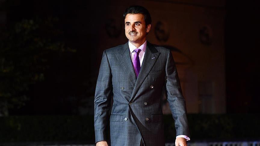 أمير دولة قطر، تميم بن حمد آل ثاني (الأناضول)