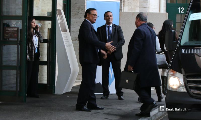 من اجتماعات اللجنة الدستورية في جولتها الثانية بمقر الأمم المتحدة في جنيف - 25 تشرين الثاني 2019 (عنب بلدي)