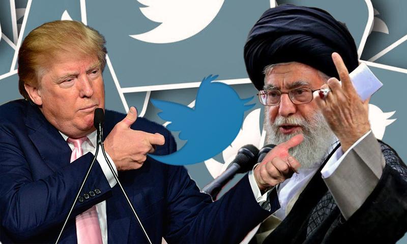 الرئيس الأمريكي، دونالد ترمب، والمرشد الإيراني، علي خامنئي-18 كانون الثاني(تعديل عنب بلدي)