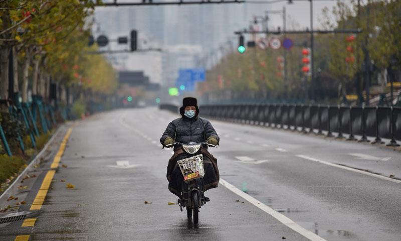 شوارع الصين خالية يوم الأحد 26 من كانون الثاني 2020 - (وكالة شينخوا)