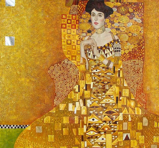 """لوحة """"امرأة من ذهب"""" لغوستاف كليمت 1907 - (Art Movies)"""