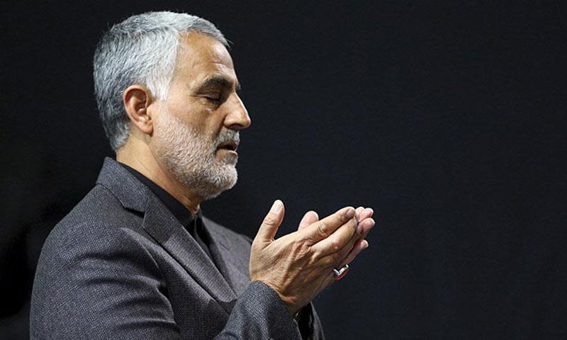 قائد فيلق القدس التابع للحرس الثوري الإيراني قاسم سليماني (قناة العالم)